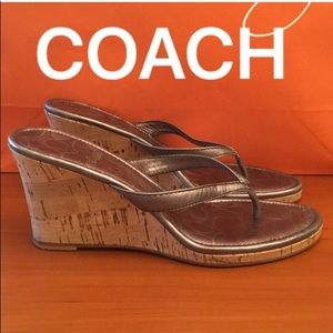 ⭐️COACH WEDGES 💯AUTHENTIC